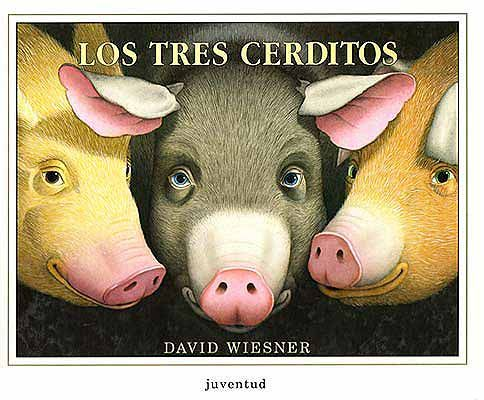 soñando cuentos: LOS TRES CERDITOS. versionado de una forma más que ingeniosa y original por el genial diseñador gráfico de libros infantiles David Wiesner ¡los cerditos lograrán salirse del mismísimo cuento para no ser comidos!