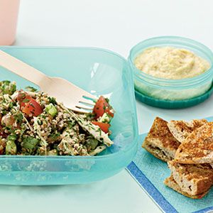 Light lunch idea: Tabbouleh with Chicken and Red Pepper
