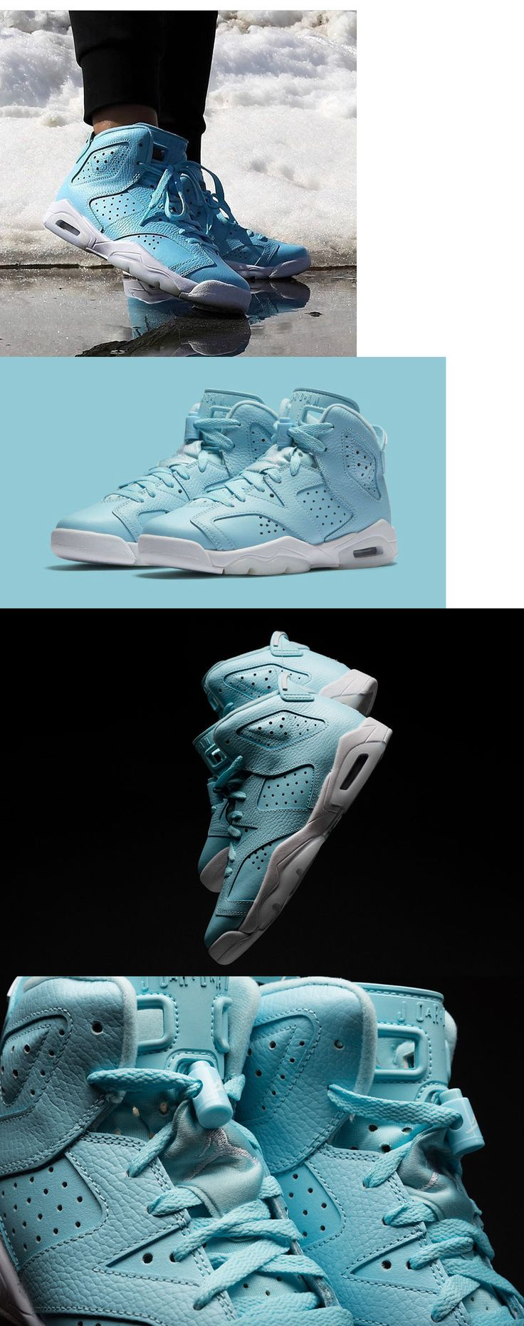 Unisex Shoes 155202: Air Jordan Vi 6 Retro Still Blue Grade School Youth Shoes Us Gs 5-9.5 543390-407 -> BUY IT NOW ONLY: $89.99 on eBay!