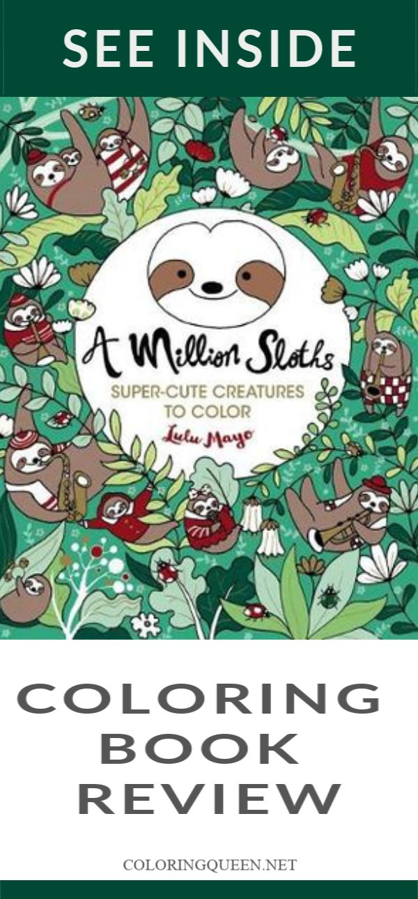 A Million Sloths Coloring Book Review Coloring books
