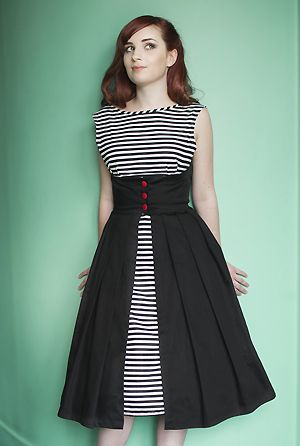 Black and white stripe Lulu Dress from Dollydagger Boutique