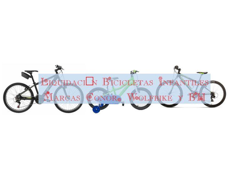 Liquidación bicicletas infantiles marca Conor, Wolfbike y BH. Bicicletas nuevas desde 121 euros