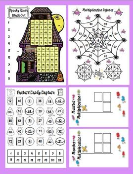 Halloween Math Spooktacular Bundled Set - Keep your students engaged and excited about math during the month of October! $