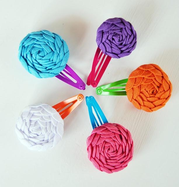Fargefest: Diy : Hårspenne med blomst