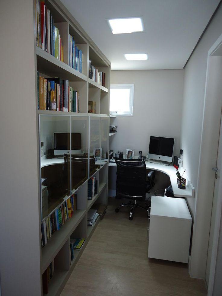 Home Office Pequeno O Escrit Rio Teve Melhor