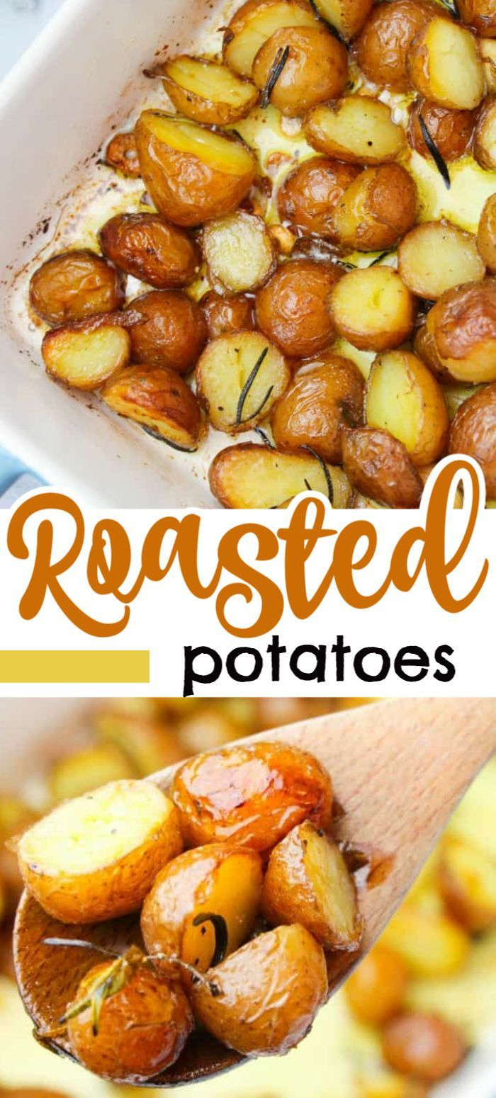 These Golden Roasted Potatoes Make The Perfect Thanksgiving Side Dish These Potatoes Are Perfect Roasted Potatoes Healthy Vegetable Recipes Thanksgiving Sides