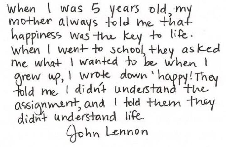 BrillianceInspiration, Life, Happy Quotes, John Lennon Quotes, Things, Recovery Quotes, Living, 5 Years, John Lennon