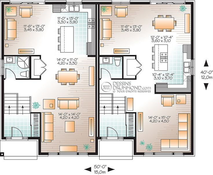 13 best maison jumelée images on Pinterest Garage plans, Garage