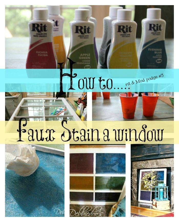 How to faux a window stained glass with Mod podge and Rit dye.