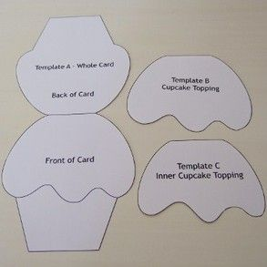 Cupcake Topping Template Cupcake Shaped Cards and Tags