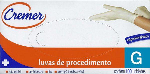 LUVAS DE PROCEDIMENTO G C/100 UN CREMER