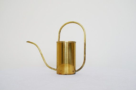 Vintage Brass Watering Can by RetroAndCo on Etsy