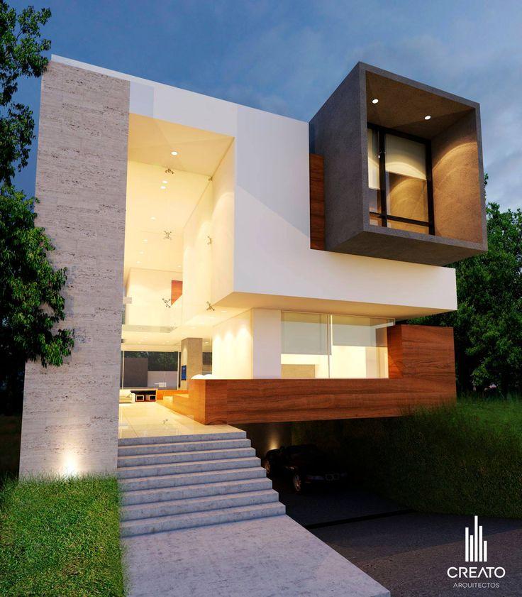 Cubo madera concreto