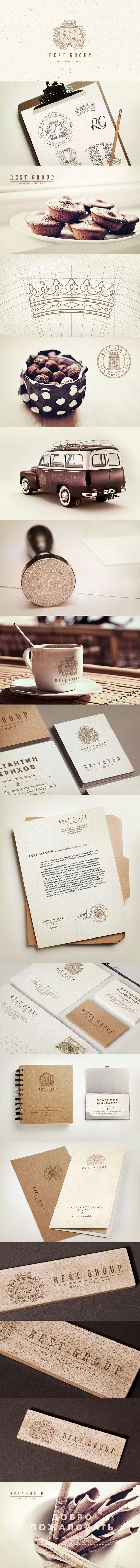 Rest Group, Identity ~ #LogoDesign #GraphicDesign #Inspiration