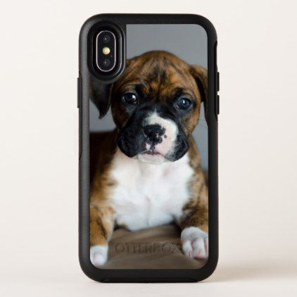 Brindle Boxer Puppy OtterBox Symmetry iPhone X Case - dog puppy dogs doggy pup hound love pet best friend