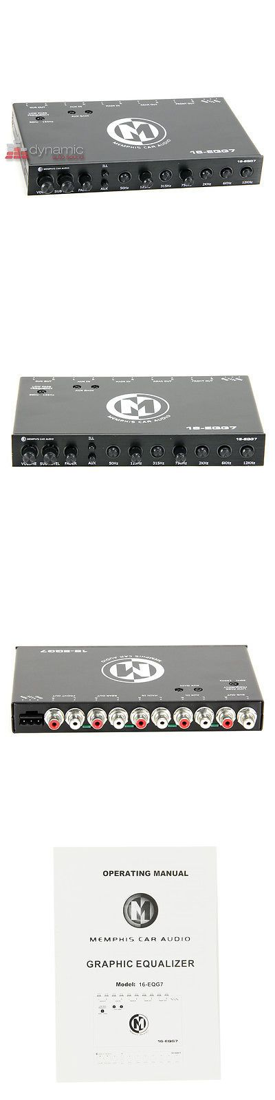 Signal Processors: Memphis Audio 16-Eqg7 Car Stereo 7-Band Graphic Sound Processor Equalizer Eq New BUY IT NOW ONLY: $149.95