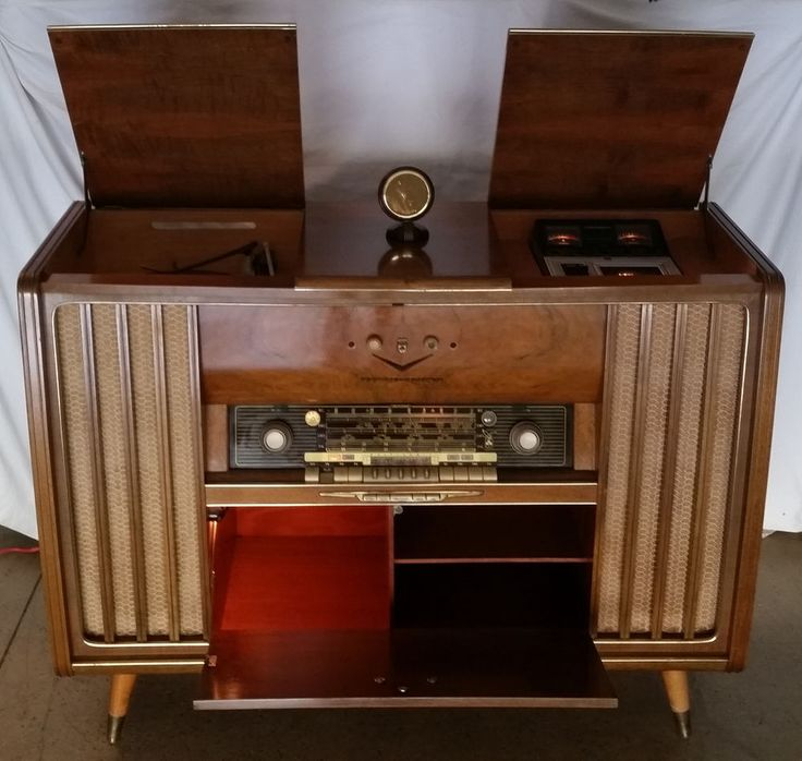 1950's GRUNDIG MAJESTIC HI-FI CONSOLE w/RECORD PLAYER ...
