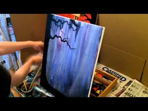 """Acrylic Speed Painting """"Warm Pasts, Cold Futures"""" - YouTube"""