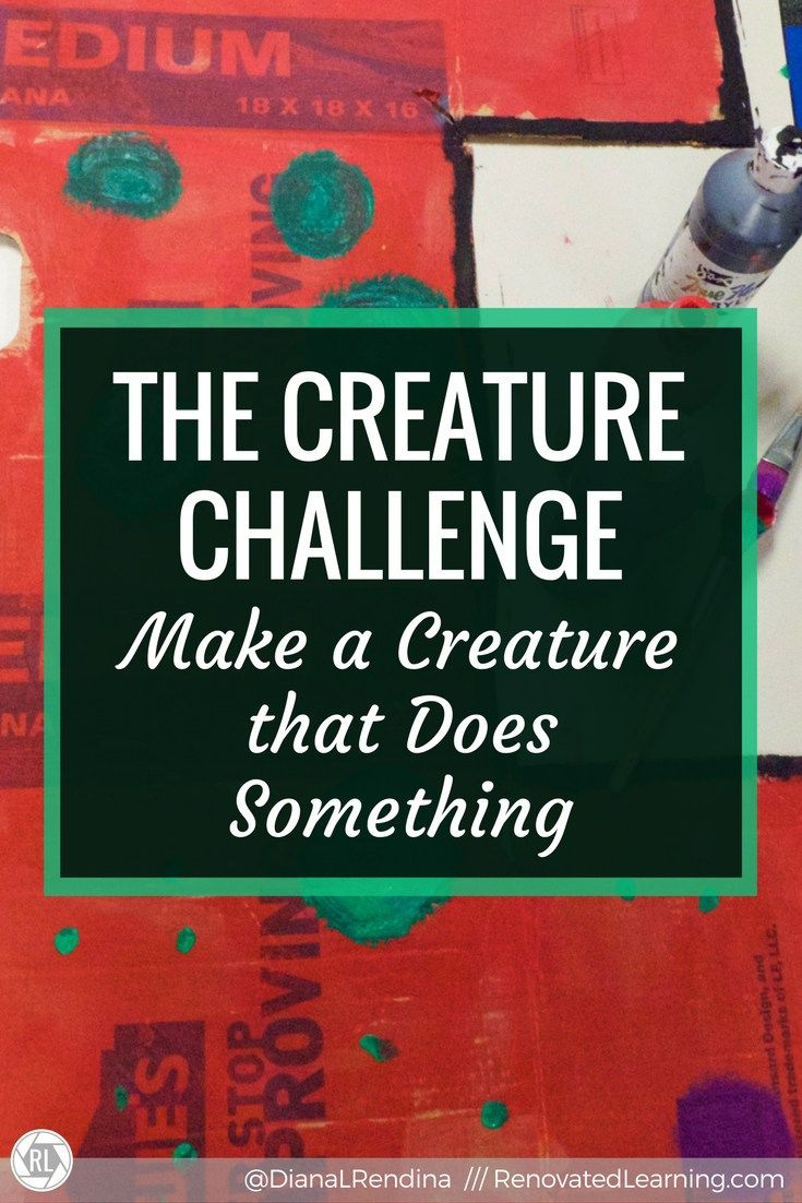 The Creature Challenge: Make a Creature That Does Something: Student created design challenges can be powerful motivators for students. In this student challenge, the Stewart Makers Club used different materials to build creatures that did something.