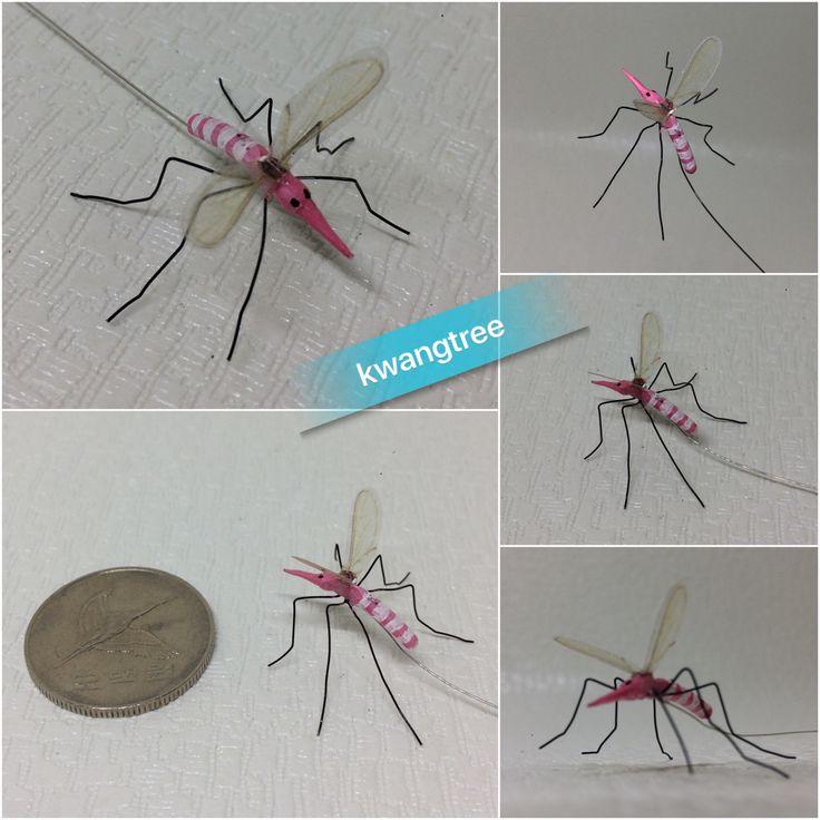 고개 숙이고 모기 만들었더니 목이 아프다... #철사공예 #와이어아트 #와이어공예 #WireArt #WireCrafts #ワイヤーアート #針金細工 #はりがねさいく #handmade #핸드메이드 #모기 #mosquito #蚊子