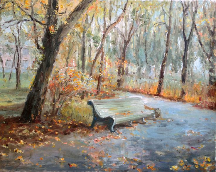 Осенний пейзаж, авторская копия Холст, масло 40х50 см.