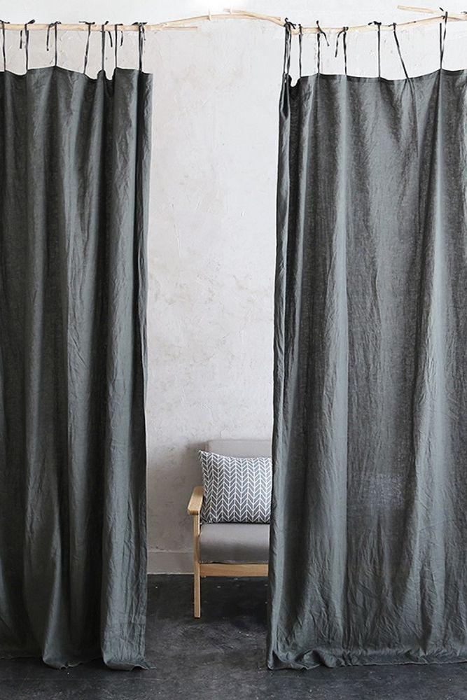 The Dark Curtains For Dark Room In 2020 Tie Top Curtains Curtains Dark Curtains