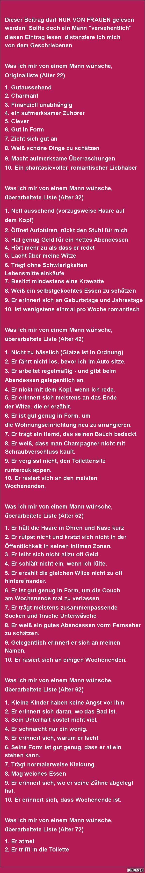 Was Frau alles will... | DEBESTE.de, Lustige Bilder, Sprüche, Witze und Videos