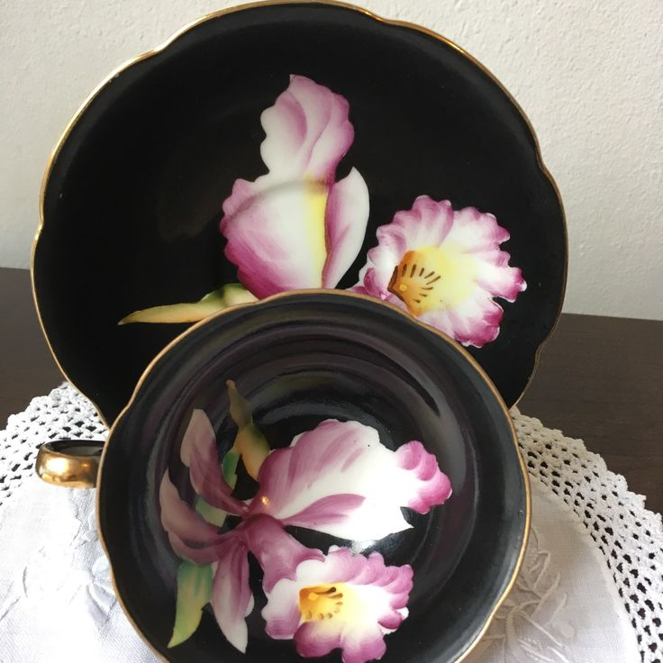 Our latest listing a hand painted Made in Japan teacup and saucer set x