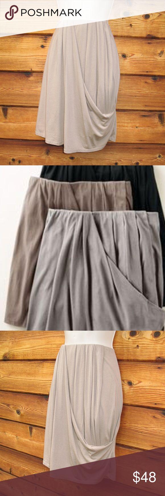 "NEW Garnet Hill Tulip Jersey Mini Skirt XL Garnet Hill Draped Front Cotton Modal Skirt NWOT   Details: Garnet Hill  Color: Beige  Size: XL  Elastic waistband  Drape/pleated front  Straight back  60% Cotton/40% Modal   Measurements:  Length: 22""  Waist: 36-46""  Hips: 44 Garnet Hill Skirts Mini"