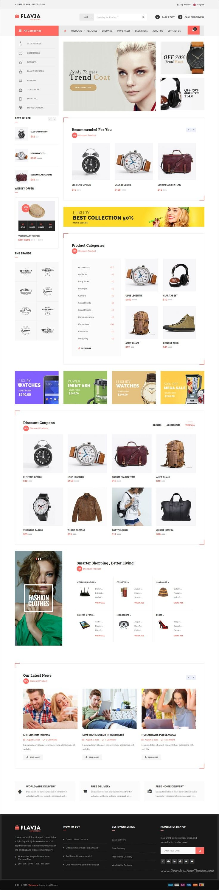 Flavia is a wonderful #responsive WooCommerce #WordPress theme for multipurpose #eCommerce website with 7+ pre-built homepages download now➩ https://themeforest.net/item/flavia-download-responsive-woocommerce-wordpress-theme/18030189?ref=Datasata