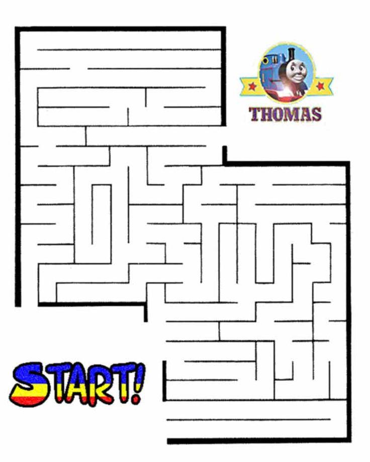 thomas the train halloween worksheets for kids printable maze games - Halloween Kid Games Online