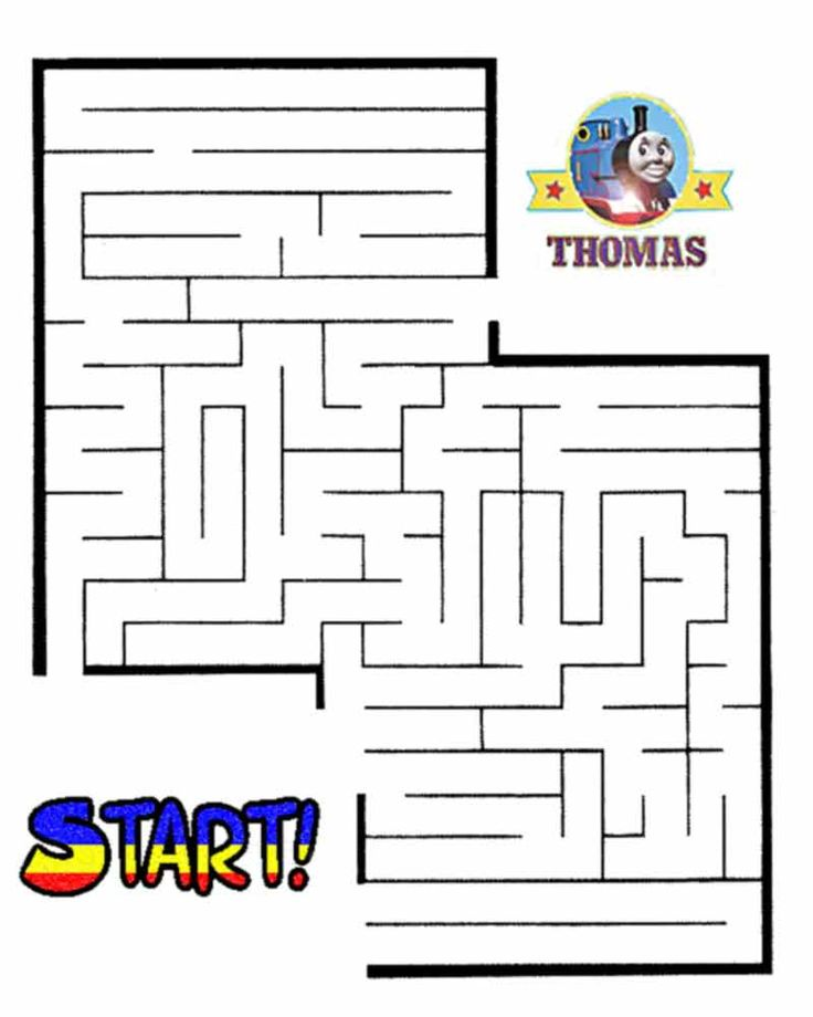 Thomas the train halloween worksheets for kids | Printable Maze Games