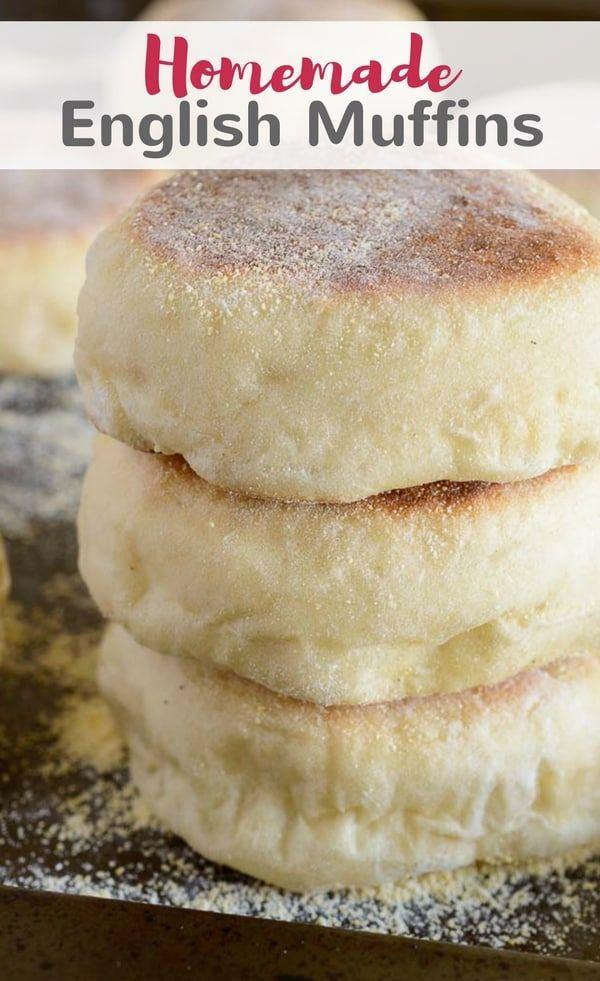 Homemade English muffins are so much easier than you think! This recipe is simple and will give you soft, chewy muffins in no time. #muffins #breakfast #englishmuffins #baking via @introvertbaker