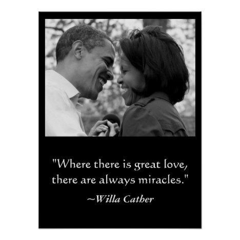 LOVE & MIRACLES POSTER BARACK & MICHELLE OBAMA POSTER #valentinesday #art #posters
