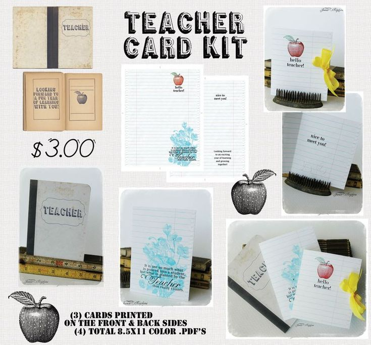 Teacher Card Kit, Janet Hopkins. $3.00