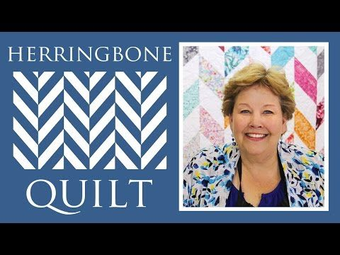 ▶ The Herringbone Quilt: Easy Quilting Tutorial with Jenny Doan of Missouri Star Quilt Co - YouTube