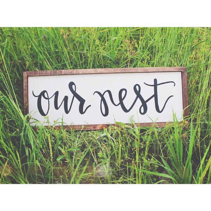 Our Nest  hand painted sign by helloLouLou on Etsy https://www.etsy.com/listing/231554225/our-nest-hand-painted-sign