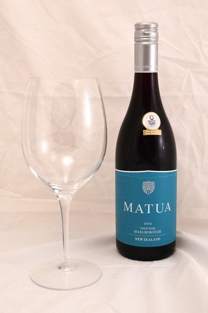 Matua Pinot Noir 2012 red wine. Fruity, juicy and delicious for a spicy meal!