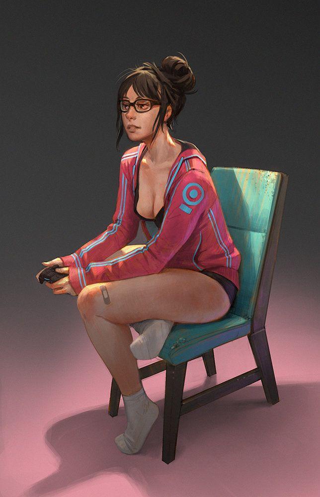 Late night Gaming, Gui Guimaraes on ArtStation at https://www.artstation.com/artwork/late-night-gaming