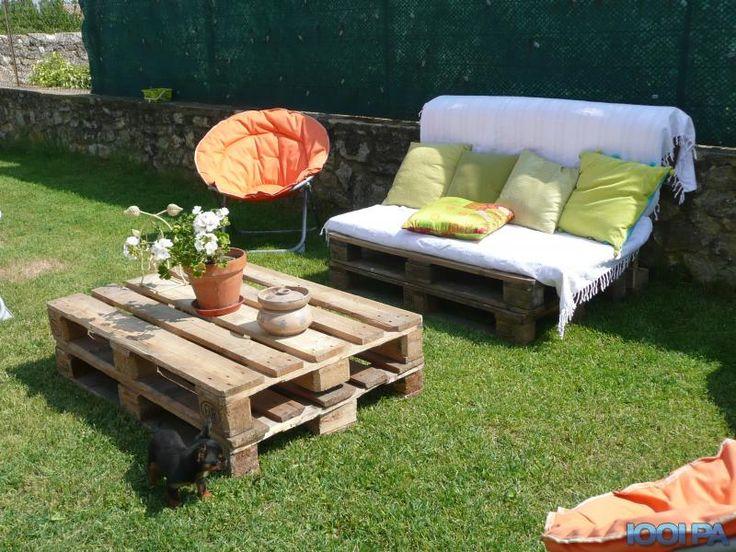 Photos de meubles en palettes bing images meubles for Meuble patio palette