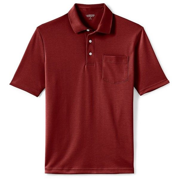 Lands' End Men's Tall Short Sleeve Supima Pocket Polo Shirt ($25) ❤ liked on Polyvore featuring men's fashion, men's clothing, men's shirts, men's polos, red, men's pocket polo shirts, mens short sleeve dress shirts, mens tall dress shirts, mens banded collar dress shirts and mens red polo shirt