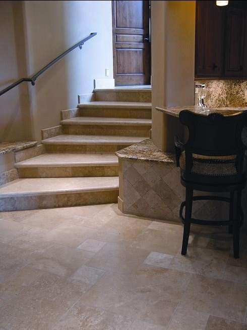 Arizona Luxury Home With Durango Veracruz™ HF Custom Stair Treads. Call  Today For Pricing.