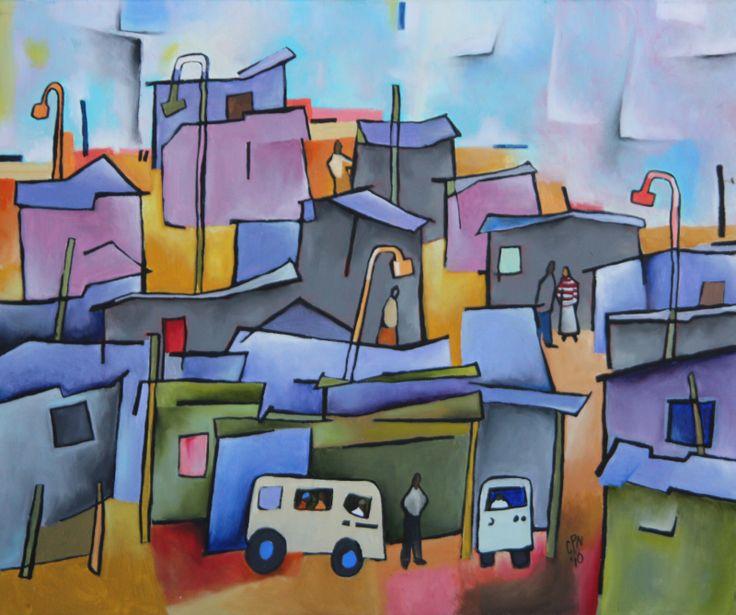 Another interpretation of informal living based on a painting bought in Nigeria.