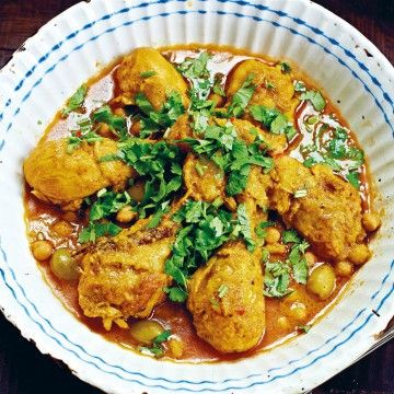 Markus Aujalays marockanska kyckling med saffran - Recept - Tasteline.com
