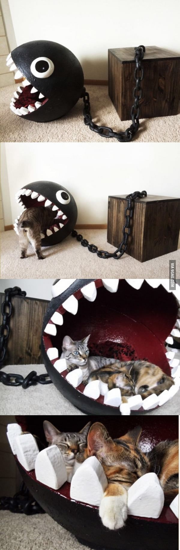 For his game room. Because cats. And also because these terrified me, like cats.