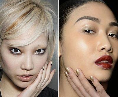 Модные цвета лака для ногтей 2015: Драгоценные металлы и монохромная красота