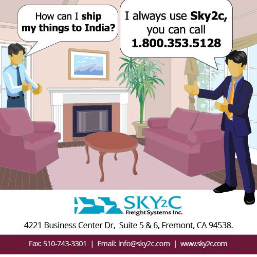 For all your #Shipping & #Moving needs Contact Sky2c Freight Systems. #Shippingtoindia