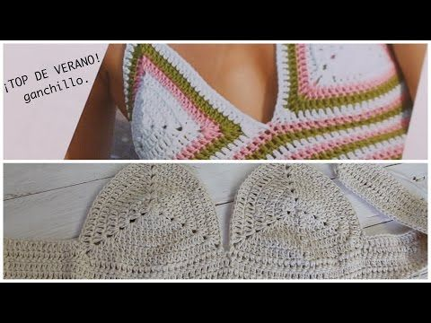 Aprende a tejer tu Primer ¡TOP DE VERANO ! paso a paso I SUMMER I PARTE 1/2 cucaditasdesaluta - YouTube