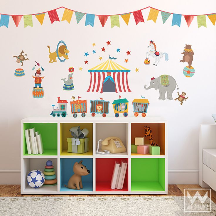 Circus Animals Removable Wall Decals For Nursery Or Kids Room Part 68
