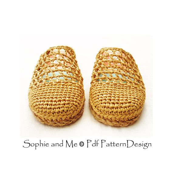 INSTANT DOWNLOAD PDFs! Not a finished product! This listing is a 2 in 1-package for HOW TO MAKE YOUR OWN SANDALS FOR STREET-WEAR. The Basic Raffia Slip-In Slipper-Pattern + The Cord-Sole Tutorial = Street Shoes! Any size tailored Cord-Sole-Method for any foot-size, applies to ANY crochet/knit slipper. No sole-hole-punching or seaming! VERY detailed step-by-step instructions with pics! THE PACKAGE INCLUDES: PDF 1: The basic slipper-pattern: 13 pages with written instructions, and lots of ...
